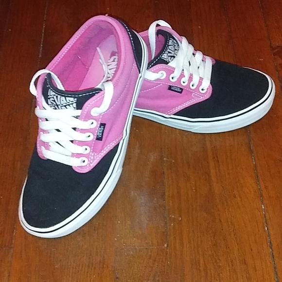 Vans Shoes   Super Cute Pink And Black